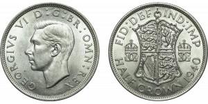 George VI, Silver Half-crown. 1940