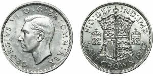 George VI. Silver Half-crown, 1937