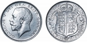 George V, Silver Half-crown, 1911