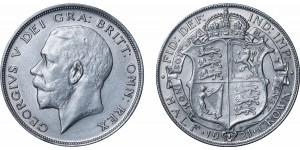 George V, Silver Half-crown, 1921