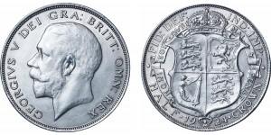 George V, Silver Half-crown, 1924