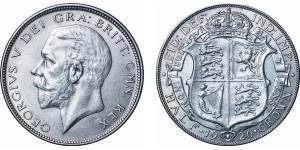 George V, Silver Half-crown, ME, 1926
