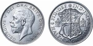 George V, Silver Half-crown, 1934