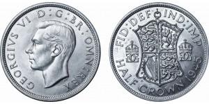 George VI, Silver Half-crown. 1945