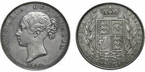 Victoria, Silver Half-crown, 1840