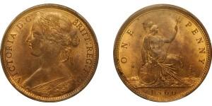 Victoria, Bronze Penny, 1866