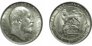 Edward VII, Silver Shilling, 1906