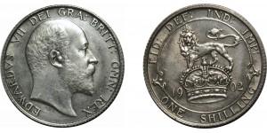 Edward VII, Silver Shilling, 1902