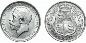 George V, Silver Half-crown, 1917