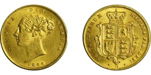 Victoria, Gold Half Sovereign.1866.