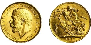 George V, Gold Sovereign, 1911C