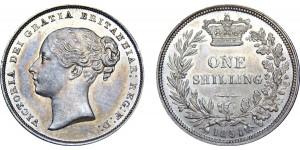 Victoria, Silver Shilling,1851