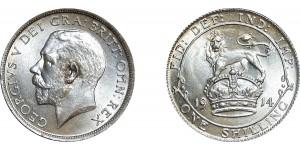 George V, Silver Shilling, 1914