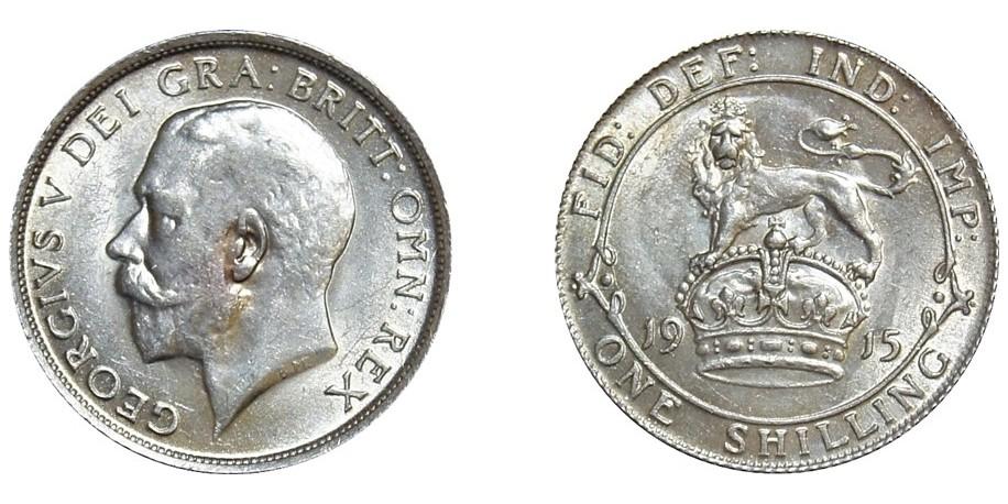 George V, Silver Shilling, 1912