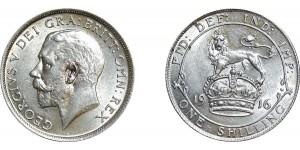 George V, Silver Shilling, 1916