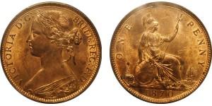 Victoria. Bronze Penny, 1870