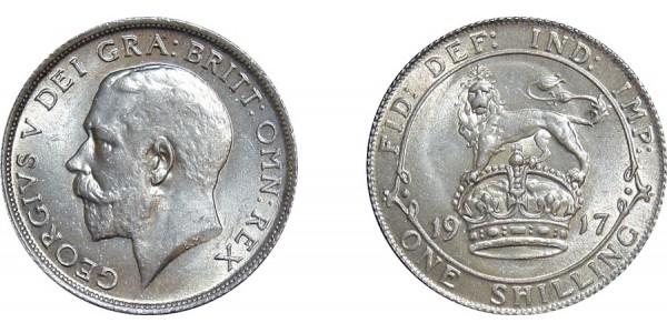 George V, Silver Shilling, 1917