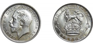 George V, Silver Sixpence, 1926