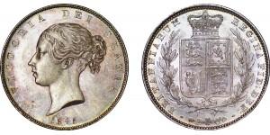 Victoria, Silver Half-crown, 1845