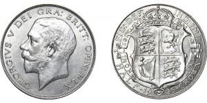 George V, Silver Half-crown 1925