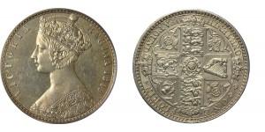 Victoria, Godless Silver Florin, 1849