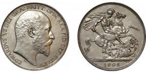 Edward VII, Matt Proof Silver Crown, 1902.