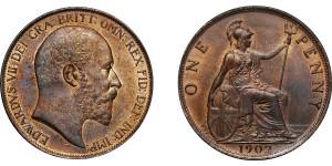 Edward VII, Bronze Penny, 1902 LT