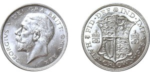 George V, Silver Half-crown, 1928