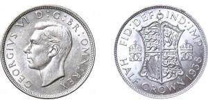 George VI, Silver Half-crown. 1938