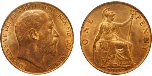 Edward VII, Bronze Penny 1902 HT