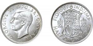 George VI, Silver Half-crown. 1946