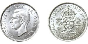 George VI, Silver Florin, 1937