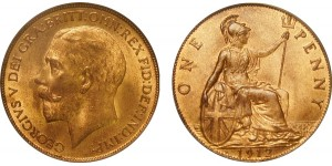 George V, Bronze Penny, 1912H