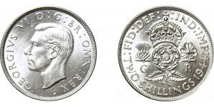 George VI, Silver Florin, 1944