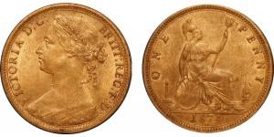 Victoria, Bronze Penny, 1874H