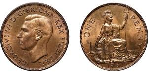 George VI, Bronze Penny, 1951