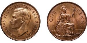 George VI, Bronze Penny, 1950