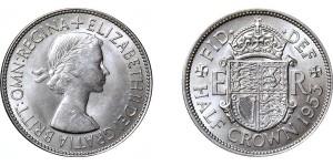 Elizabeth II, Half-crown. 1953