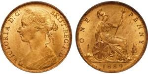 Victoria, Bronze Penny, 1889