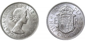 Elizabeth II, Half-crown. 1966