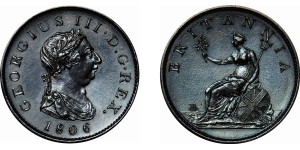 George III, Copper Penny, 1806