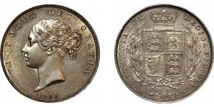 Victoria, Silver Half-crown, 1850