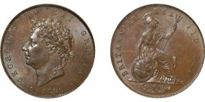 George IV, Copper Halfpenny, 1826