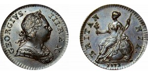 George III, Copper Halfpenny, 1773