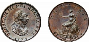 George III, Copper Farthing, 1799