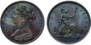 Victoria, Bronze Penny, 1863