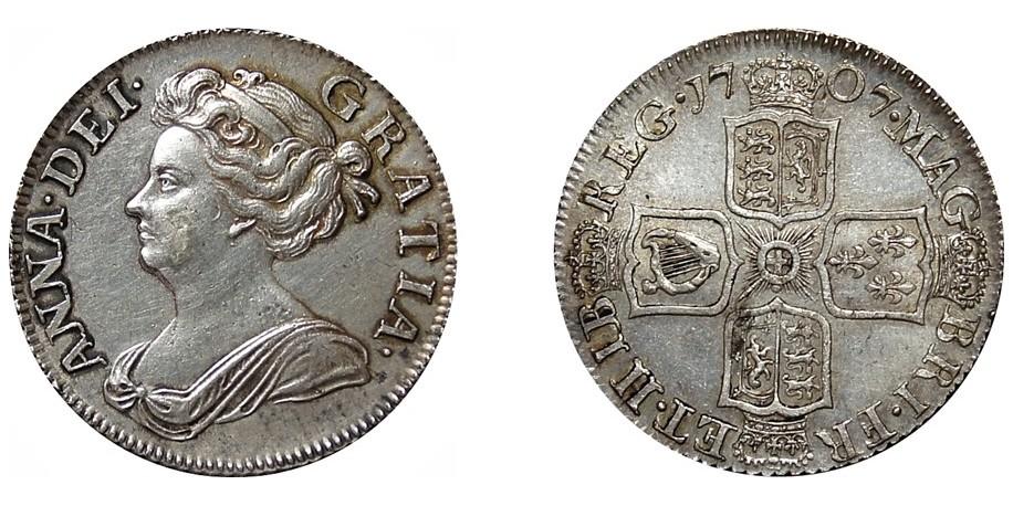 Anne, Silver Shilling, 1707