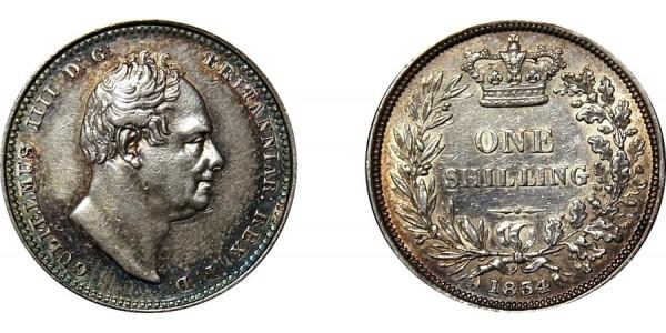 William IV, Silver Shilling, 1834