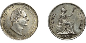 William IV, Silver Groat, 1837