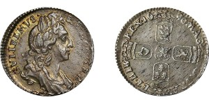 William III, Silver Sixpence, 1696